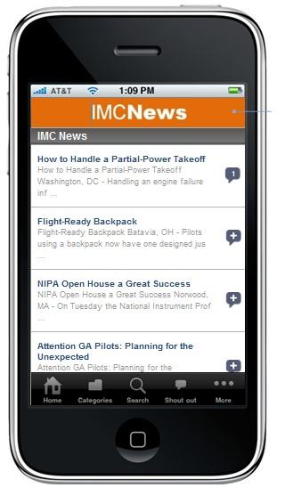 IMC News iPhone App