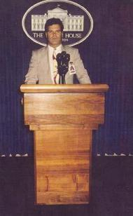 Edward Lozzi in White House Press Room 1991
