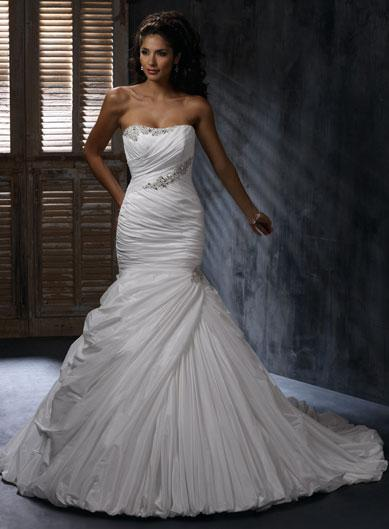 scoop fitted beaded mermaid trumpet wedding dresses 2011