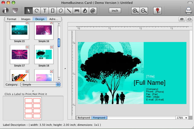 New version of mac business card maker from cristallight software is mac business card screen shot reheart