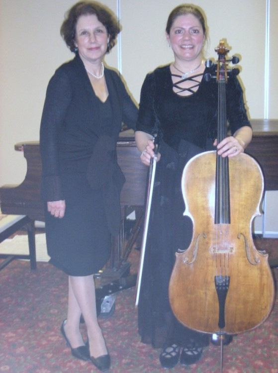 Composer Sharon Ruchman (l) and Mary Costanza