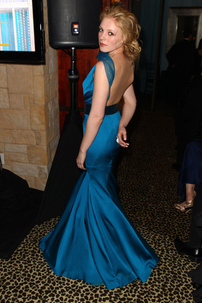 Emma Bell wears Jean Fares Couture!