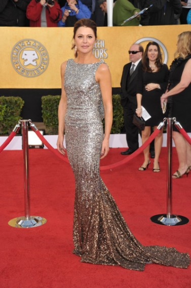Jane Leeves wears Jean Fares Couture!