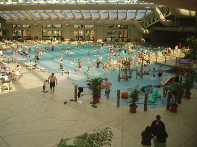 Tired of winter already check out this indoor waterpark for Dells wilderness cabin