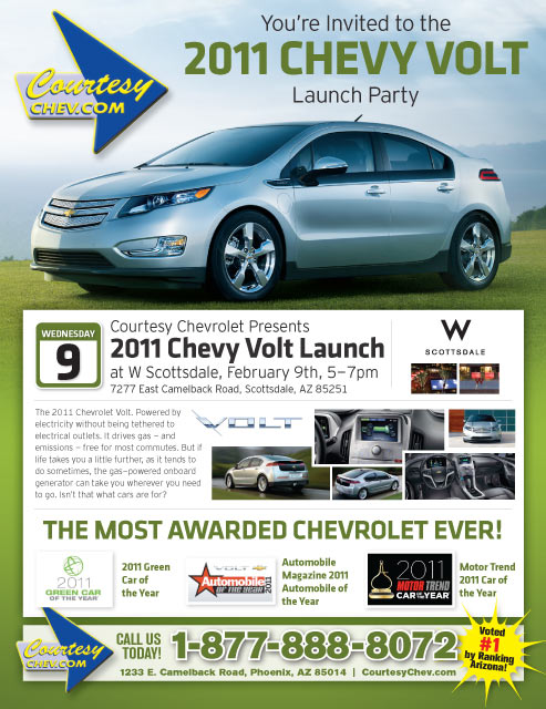 Courtesy Chevrolet Phoenix Throws Volt Preview Party At W