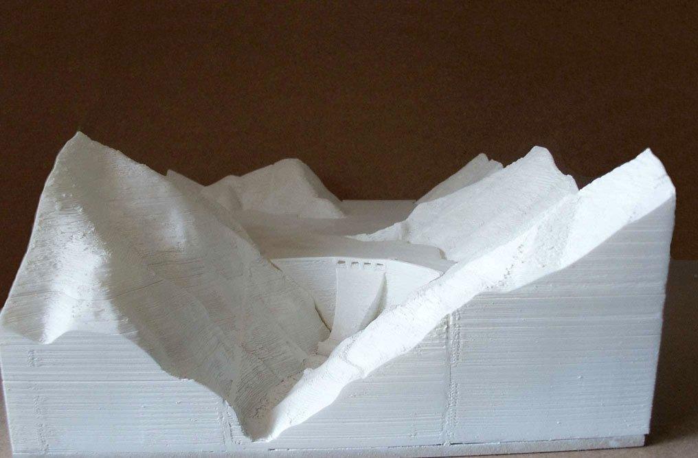 3D model of the dam at Lago delle Mischie, Italy