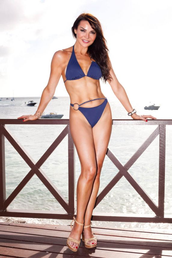 Lizzie Cundy in Couture Bikini from Sandstorm