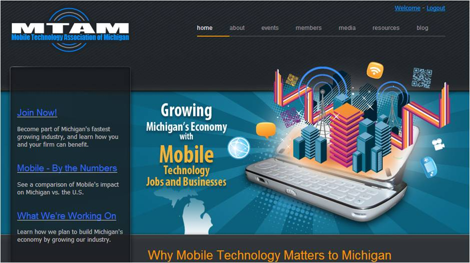 Mobile Technology Association of Michigan website