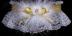 Gold Metallic Prom Garter