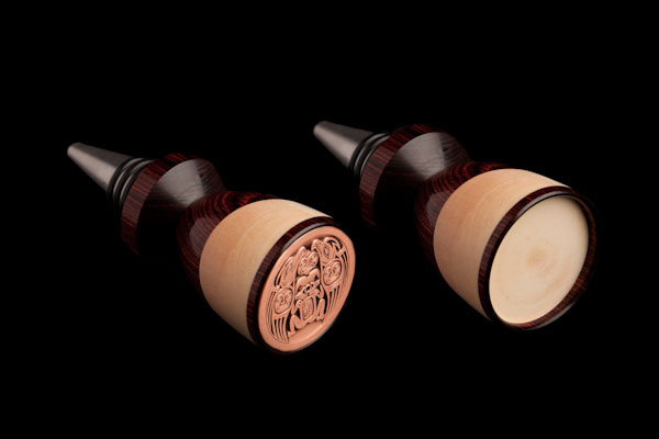 Wine bottle stopper-laser Engraved and w/medallion