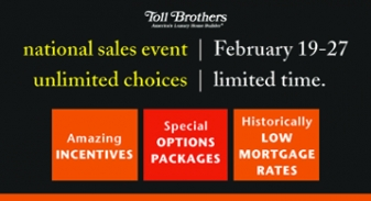 Toll Brothers National Sales Event Feb 19-27