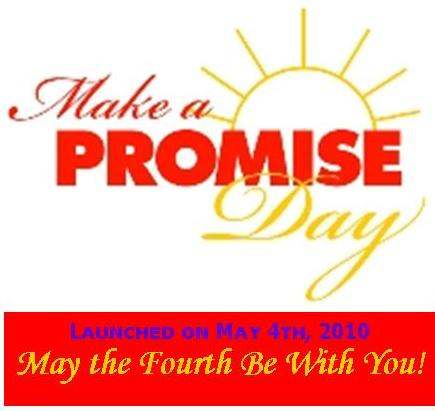 Make A Promise Day Logo with Tagline