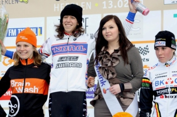 Helen Wyman uses CNP Pro Recover after a recent win in Holland