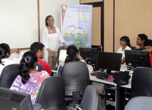 Presenting .africa at Universities in Mauritius