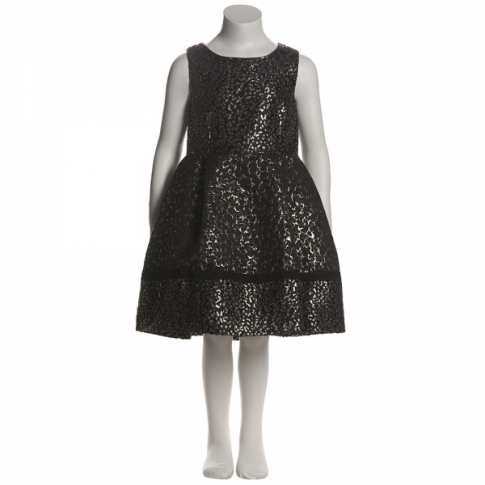 D G Girls Black  Gold Dress