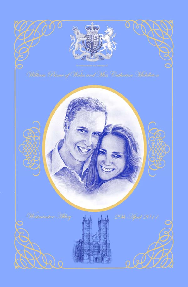 royal wedding tea towel. 2011 – A Royal Wedding