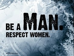 Be a Man photo graphic