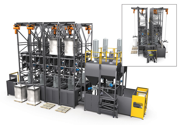 Fully integrated bulk material handling system