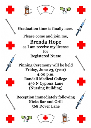 Nurse Graduation Invitations is good invitation example