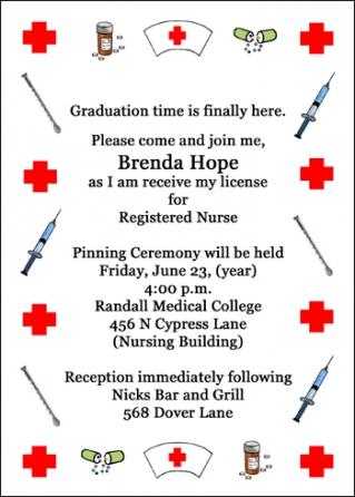 Nurse pinning ceremony invitations nursing pinning ceremony graduation nurse pinning invitations filmwisefo Image collections