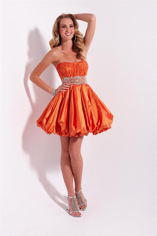 Short Orange Homecoming Dresses - Long Dresses Online