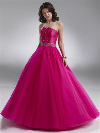 Pink Prom Dress on Hot Pink And Black Dresses   Black Strapless Dress