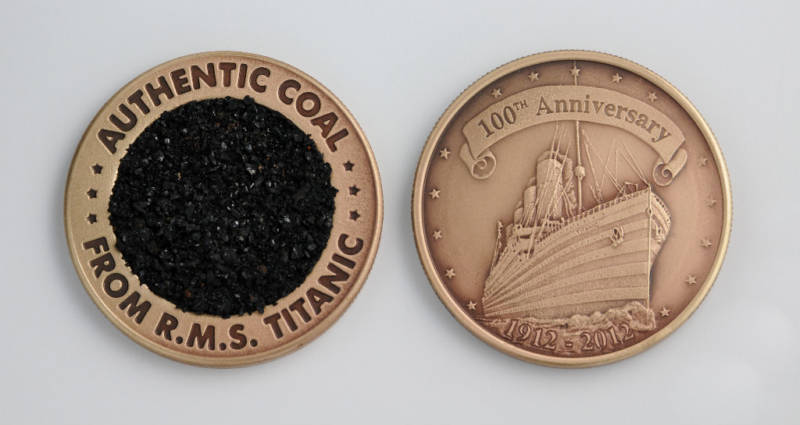 Titanic Coal Coin Both Sides