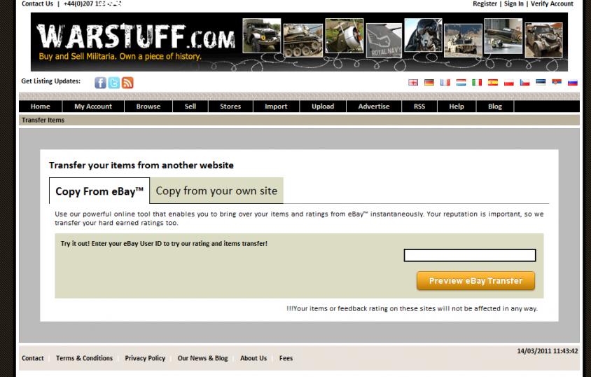 WARSTUFF eBay Import
