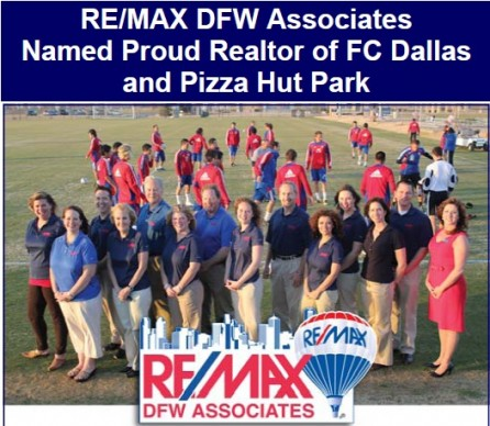 REMAX DFW Associates Named Proud Realtor of FC Dallas and Pizza Hut Park