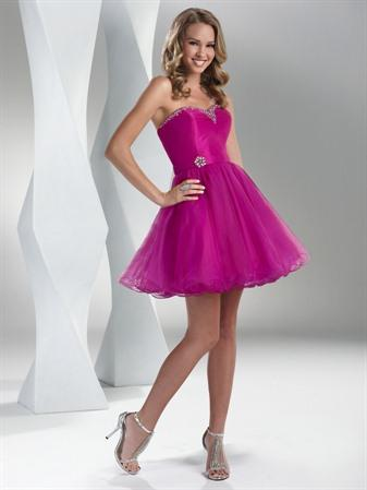 Wedding Dress Short on Neckline Short Turquoise Purple Hot Pink Prom Dresses   Prlog