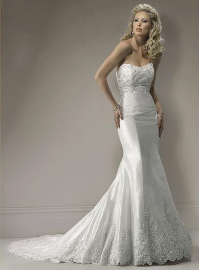 Trumpet Bottom Wedding Dresses : Sweetheart neckline organza lace mermaid wedding dresses prlog