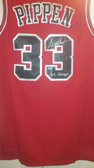 Scottie Pippen Signed Bulls Jersey 6x Champ