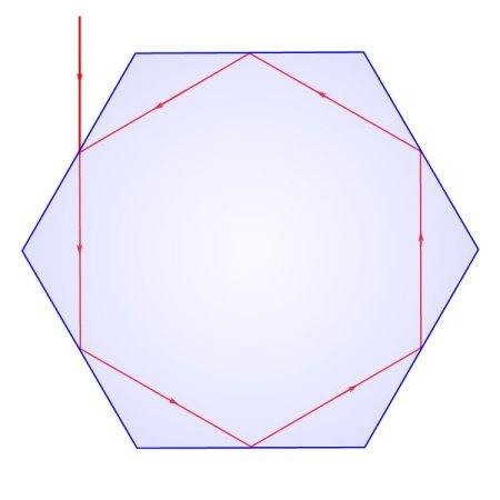 TIR Confnement in a Hexagonal QD or CNT