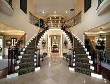 The Hampton floorplan's stunning two-story foyer.
