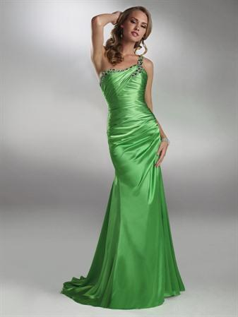 Satin Dress on Limeade  Evening  Dresses228  1  1