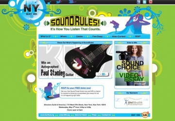 Sound Rules! A Sound & Hearing Celebration website