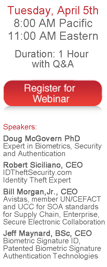 BSI Webinar: Security, Identity Theft, Biometrics