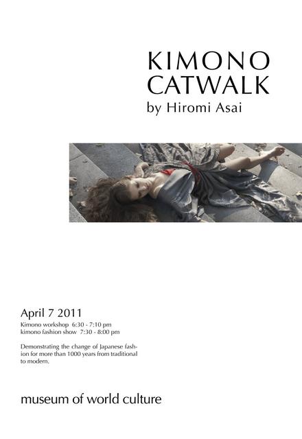 Kimono Catwalk by Hiromi Asai in Gothenburg