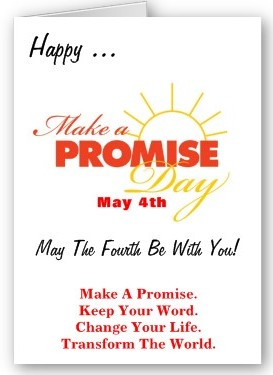 Make A Promise Day Greeting Card - May 4th