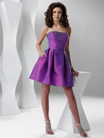 Short Wedding Dress on Purple Blue Deep Fuchsia Short Prom Dresses   Prlog
