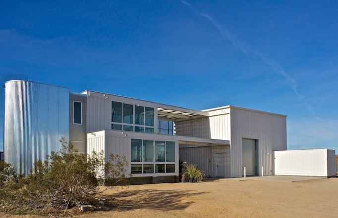 Ecotechbuild completes the first shipping container home in the mojave desert secret agent pr - Container homes in los angeles ...