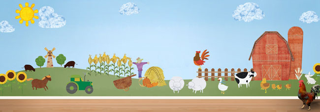Build Your Own Farm Wall Stickers A La Carte Now