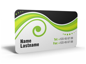Rounded corner business cards cutting edge offers custom business plastique reheart Gallery