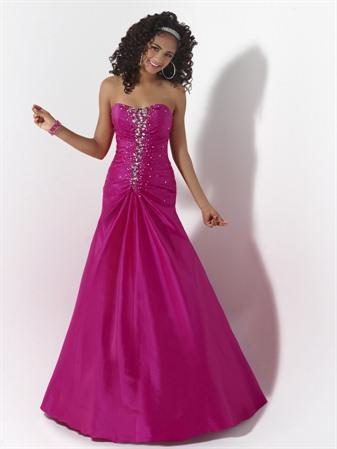 Charcoalpurpleindigo Gowns Beaded Fuchsia Prom Dresses