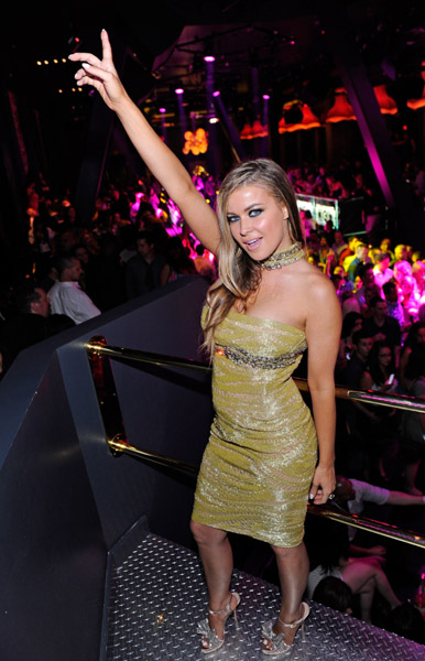 Carmen Electra wearing Jean Fares Couture!