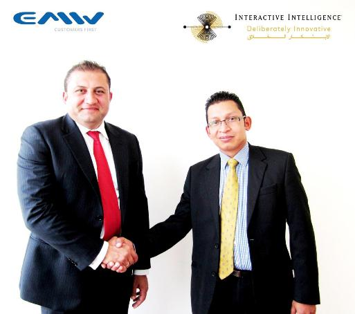 Serjios El-Hage of EMW Middle East with Shaheen Haque from Interactive Intelligence