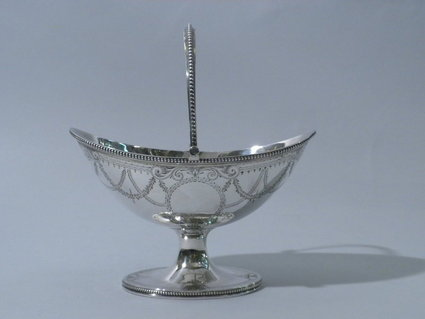Exquisite 1869 British Antique Sterlng Silver Basket For