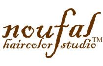 Noufal HairColor Studio Logo