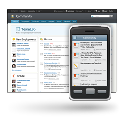 Take part in team collaboration via mobile device