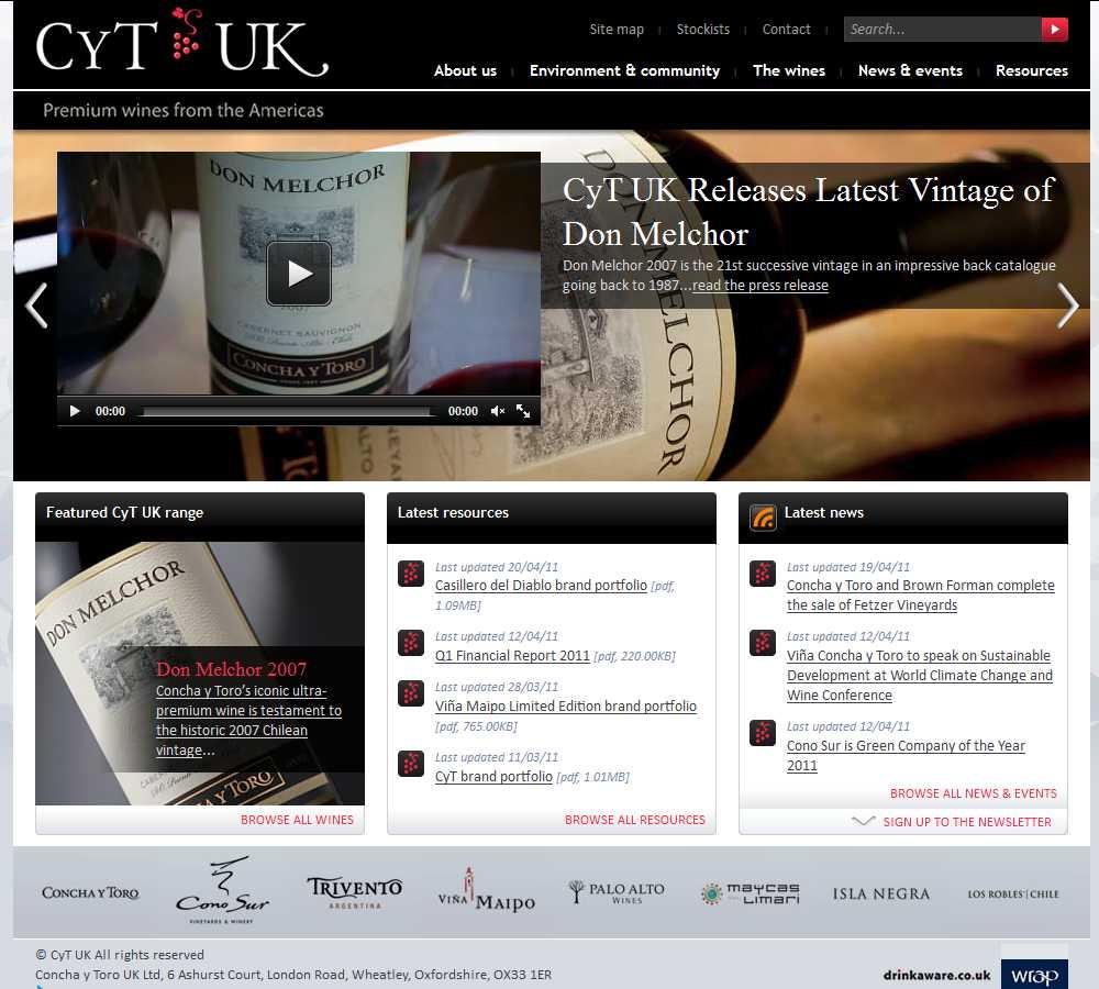 CyT UK homepage screenshot